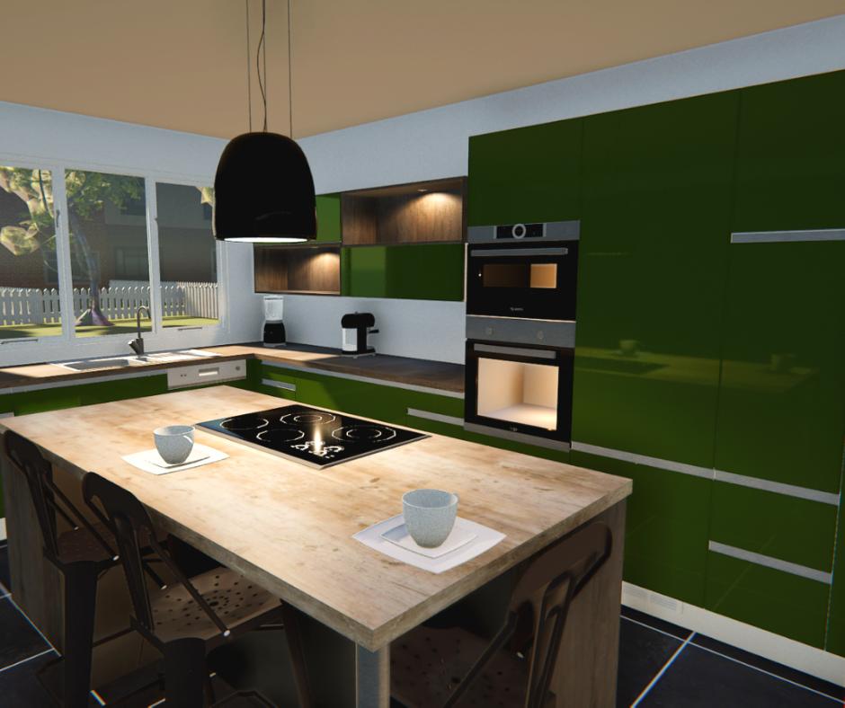 Tendance cuisine couleur vert olive